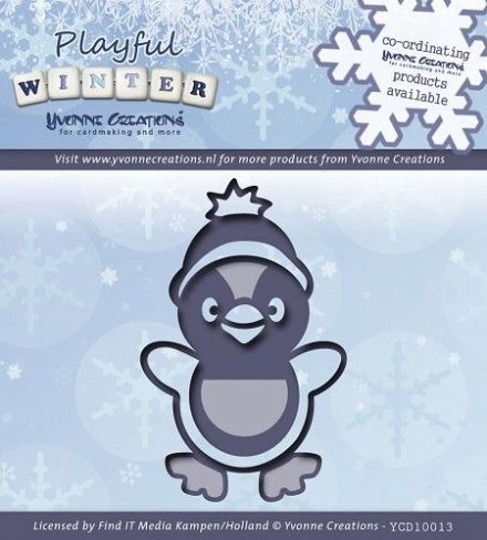 YCD10013 ~ Playful Winter Pinquin ~ Yvonne Creations